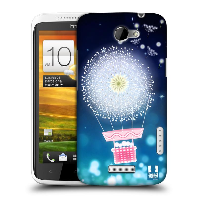 Plastové pouzdro na mobil HTC ONE X HEAD CASE Pampeliškový balón (Kryt či obal na mobilní telefon HTC ONE X)