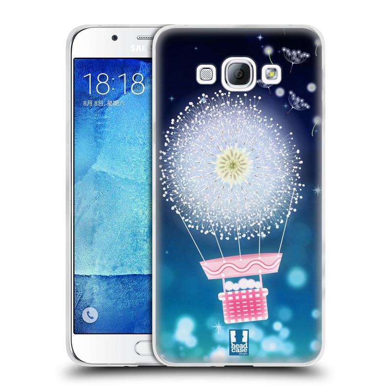 Silikonové pouzdro na mobil Samsung Galaxy A8 HEAD CASE Pampeliškový balón (Silikonový kryt či obal na mobilní telefon Samsung Galaxy A8 SM-A800)