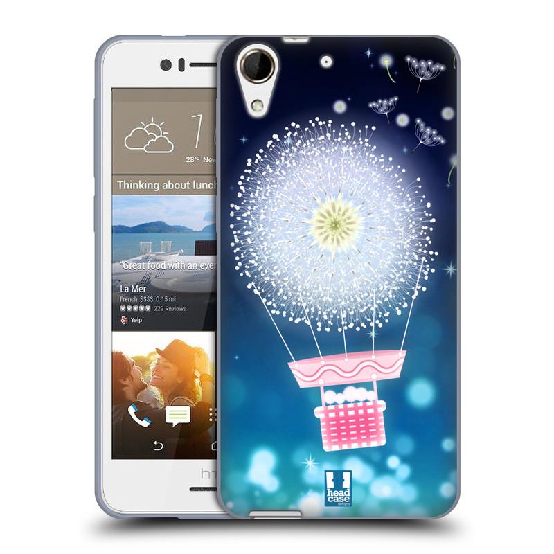 Silikonové pouzdro na mobil HTC Desire 728G Dual SIM HEAD CASE Pampeliškový balón (Silikonový kryt či obal na mobilní telefon HTC Desire 728 G Dual SIM)