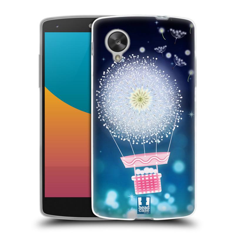 Silikonové pouzdro na mobil LG Nexus 5 HEAD CASE Pampeliškový balón (Silikonový kryt či obal na mobilní telefon LG Google Nexus 5 D821)