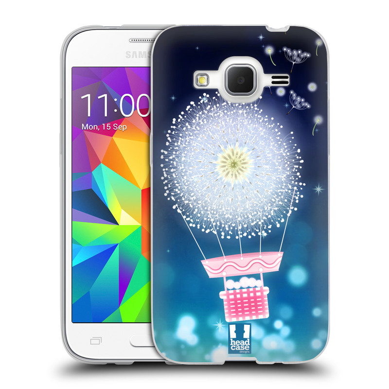 Silikonové pouzdro na mobil Samsung Galaxy Core Prime LTE HEAD CASE Pampeliškový balón (Silikonový kryt či obal na mobilní telefon Samsung Galaxy Core Prime LTE SM-G360)