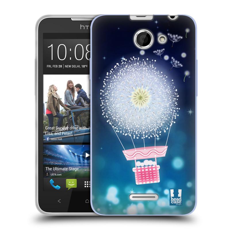 Silikonové pouzdro na mobil HTC Desire 516 HEAD CASE Pampeliškový balón (Silikonový kryt či obal na mobilní telefon HTC Desire 516 Dual SIM)