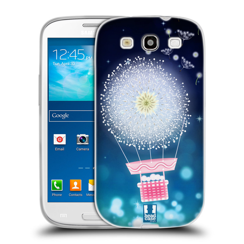 Silikonové pouzdro na mobil Samsung Galaxy S3 Neo HEAD CASE Pampeliškový balón (Silikonový kryt či obal na mobilní telefon Samsung Galaxy S3 Neo GT-i9301i)