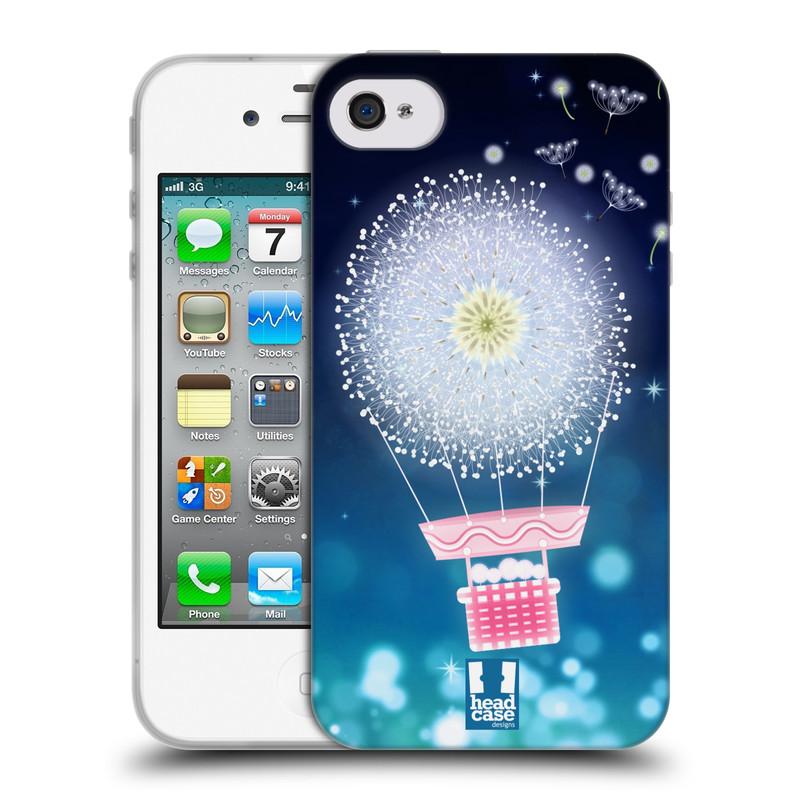 Silikonové pouzdro na mobil Apple iPhone 4 a 4S HEAD CASE Pampeliškový balón (Silikonový kryt či obal na mobilní telefon Apple iPhone 4 a 4S)