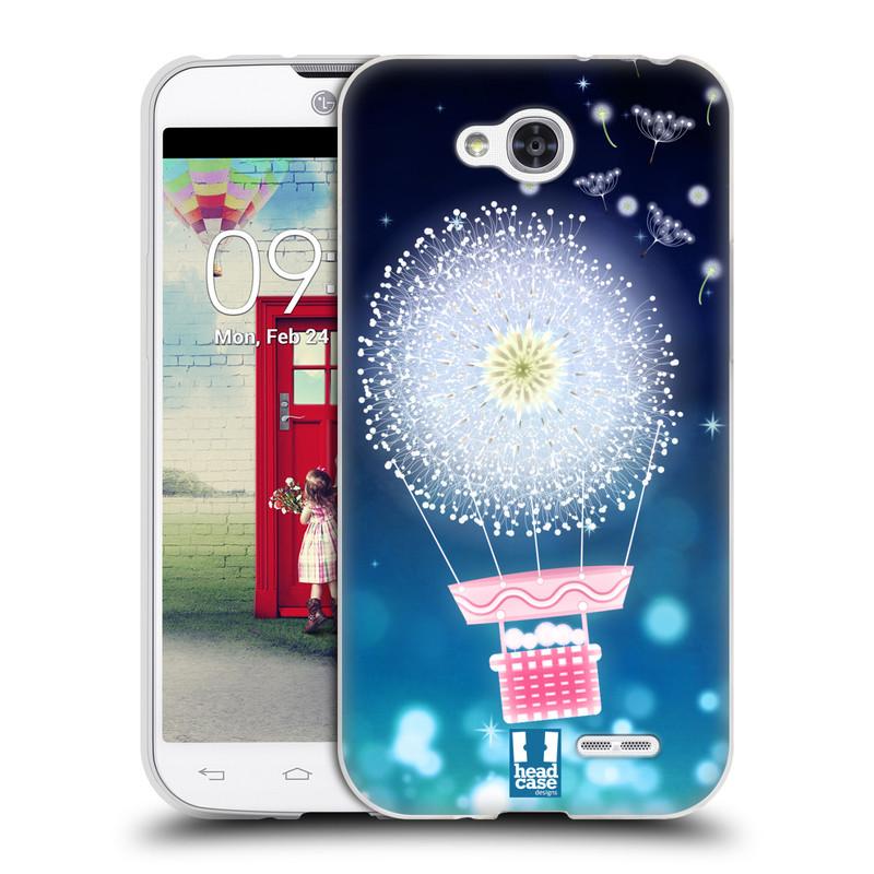 Silikonové pouzdro na mobil LG L90 HEAD CASE Pampeliškový balón (Silikonový kryt či obal na mobilní telefon LG L90 D405n)