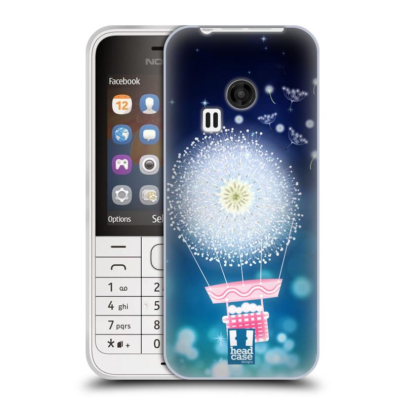 Silikonové pouzdro na mobil Nokia 220 HEAD CASE Pampeliškový balón (Silikonový kryt či obal na mobilní telefon Nokia 220 a 220 Dual SIM)