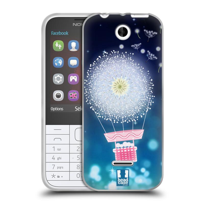 Silikonové pouzdro na mobil Nokia 225 HEAD CASE Pampeliškový balón (Silikonový kryt či obal na mobilní telefon Nokia 225)