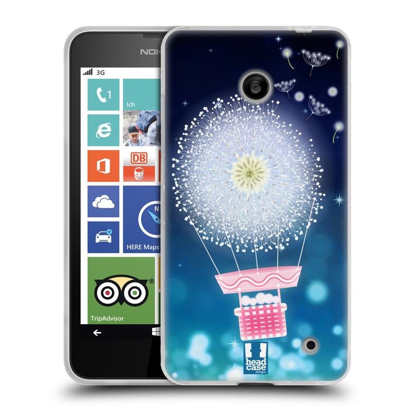 Silikonové pouzdro na mobil Nokia Lumia 630 HEAD CASE Pampeliškový balón (Silikonový kryt či obal na mobilní telefon Nokia Lumia 630 a Nokia Lumia 630 Dual SIM)
