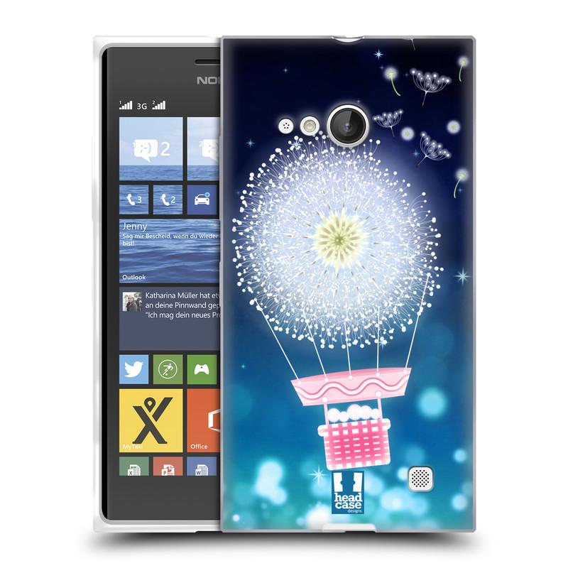 Silikonové pouzdro na mobil Nokia Lumia 730 Dual SIM HEAD CASE Pampeliškový balón (Silikonový kryt či obal na mobilní telefon Nokia Lumia 730 Dual SIM)