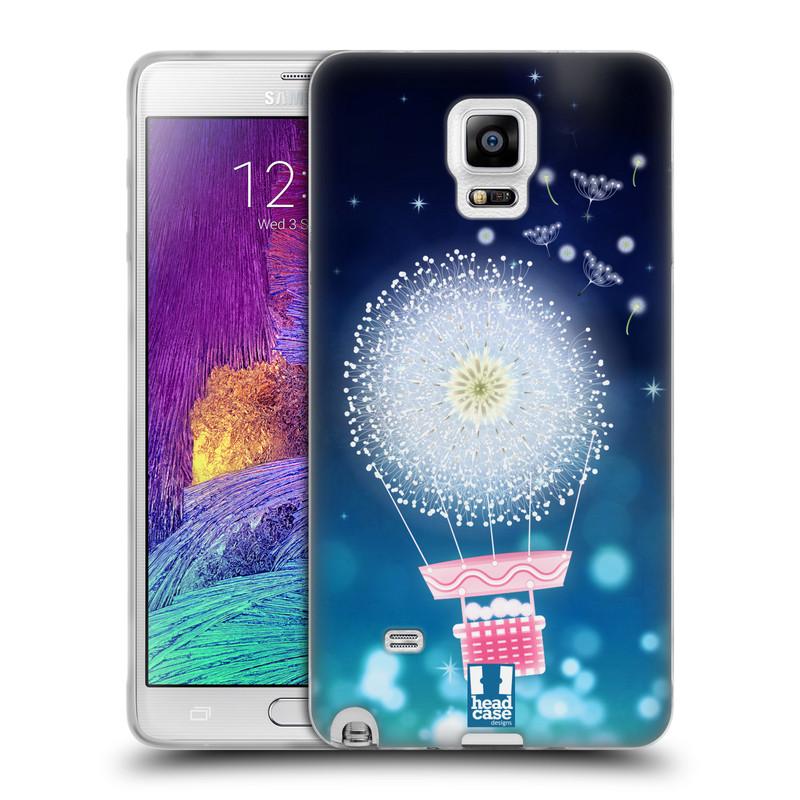 Silikonové pouzdro na mobil Samsung Galaxy Note 4 HEAD CASE Pampeliškový balón (Silikonový kryt či obal na mobilní telefon Samsung Galaxy Note 4 SM-N910F)