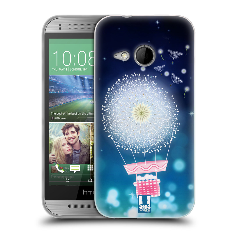 Silikonové pouzdro na mobil HTC ONE Mini 2 HEAD CASE Pampeliškový balón (Silikonový kryt či obal na mobilní telefon HTC ONE Mini 2)