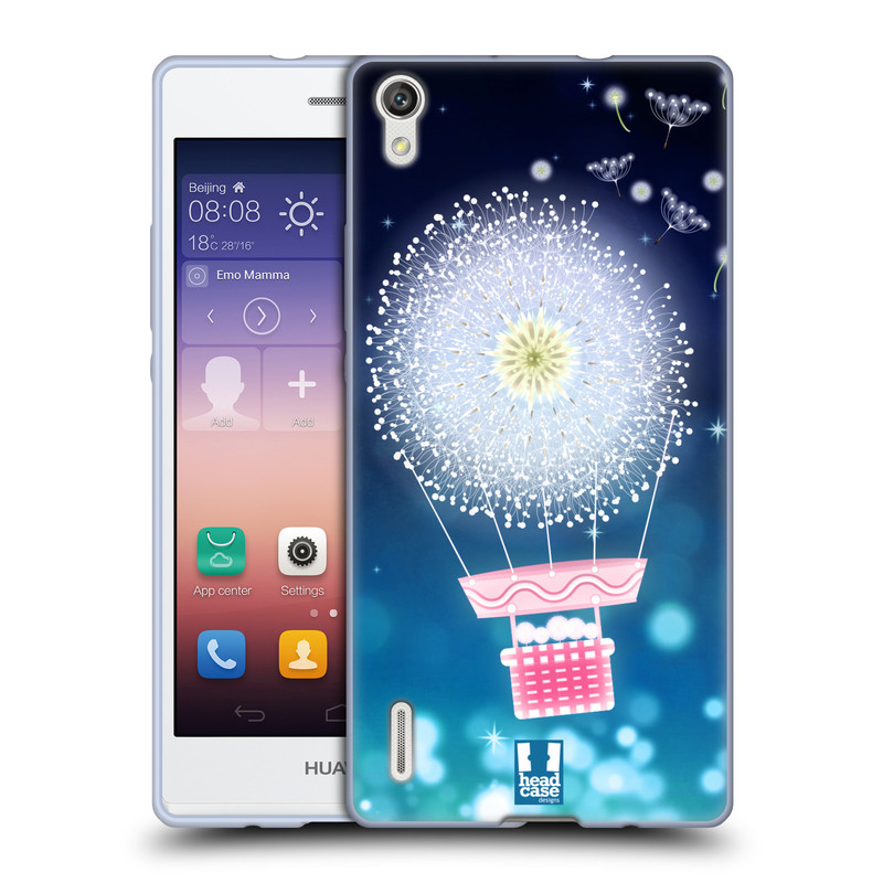 Silikonové pouzdro na mobil Huawei P7 HEAD CASE Pampeliškový balón (Silikonový kryt či obal na mobilní telefon Huawei Ascend P7)