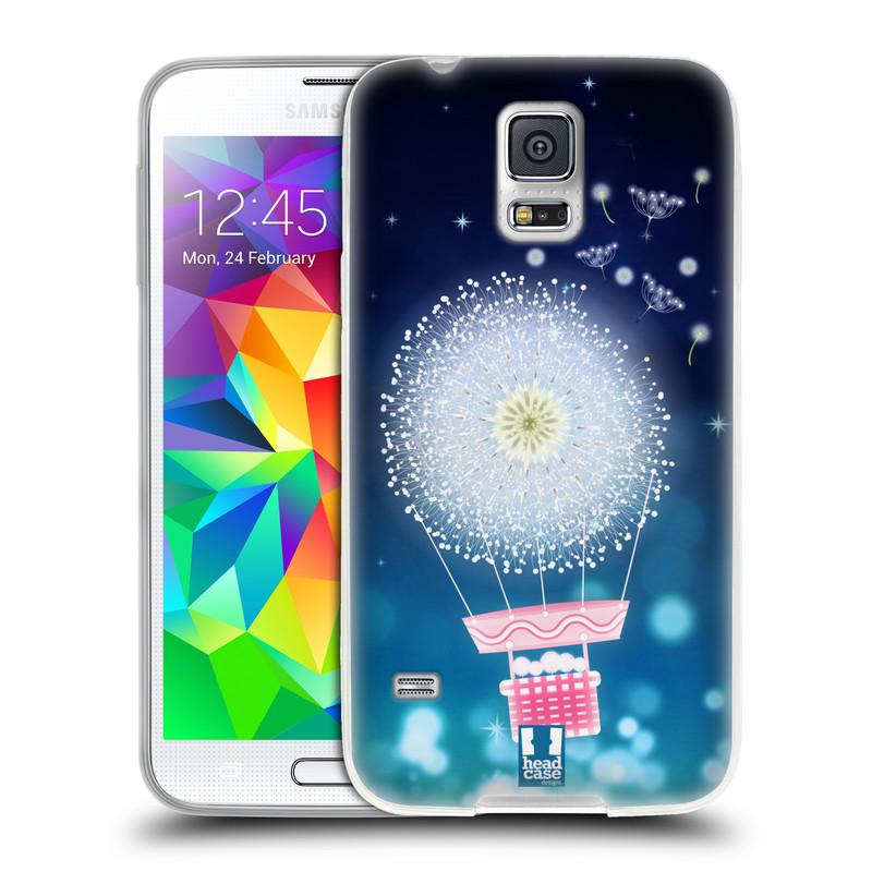 Silikonové pouzdro na mobil Samsung Galaxy S5 HEAD CASE Pampeliškový balón (Silikonový kryt či obal na mobilní telefon Samsung Galaxy S5 SM-G900F)
