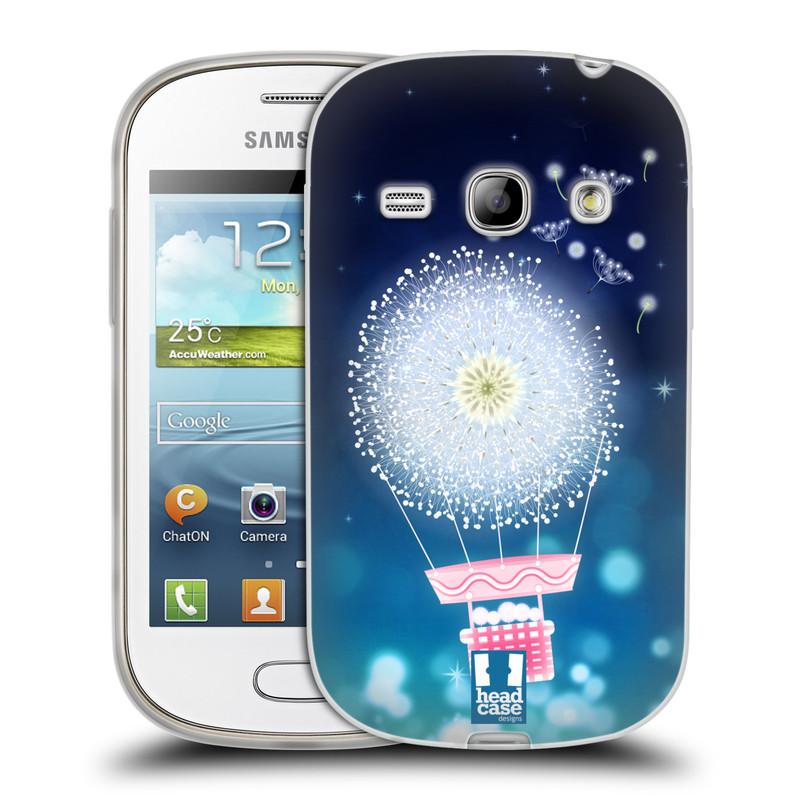 Silikonové pouzdro na mobil Samsung Galaxy Fame HEAD CASE Pampeliškový balón (Silikonový kryt či obal na mobilní telefon Samsung Galaxy Fame GT-S6810)