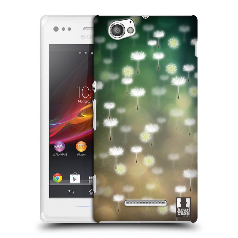 Plastové pouzdro na mobil Sony Xperia M C1905 HEAD CASE Pampeliškové padáčky (Kryt či obal na mobilní telefon Sony Xperia M )