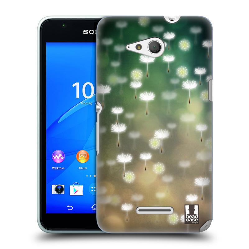 Plastové pouzdro na mobil Sony Xperia E4g E2003 HEAD CASE Pampeliškové padáčky (Kryt či obal na mobilní telefon Sony Xperia E4g a E4g Dual SIM)