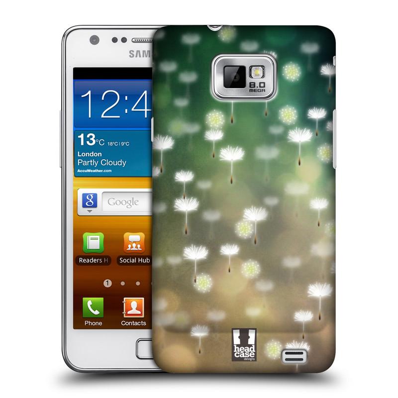 Plastové pouzdro na mobil Samsung Galaxy S II HEAD CASE Pampeliškové padáčky (Kryt či obal na mobilní telefon Samsung Galaxy S II GT-i9100)
