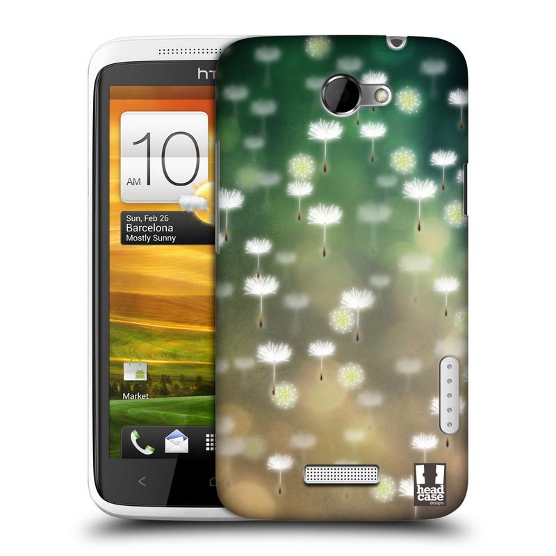 Plastové pouzdro na mobil HTC ONE X HEAD CASE Pampeliškové padáčky (Kryt či obal na mobilní telefon HTC ONE X)
