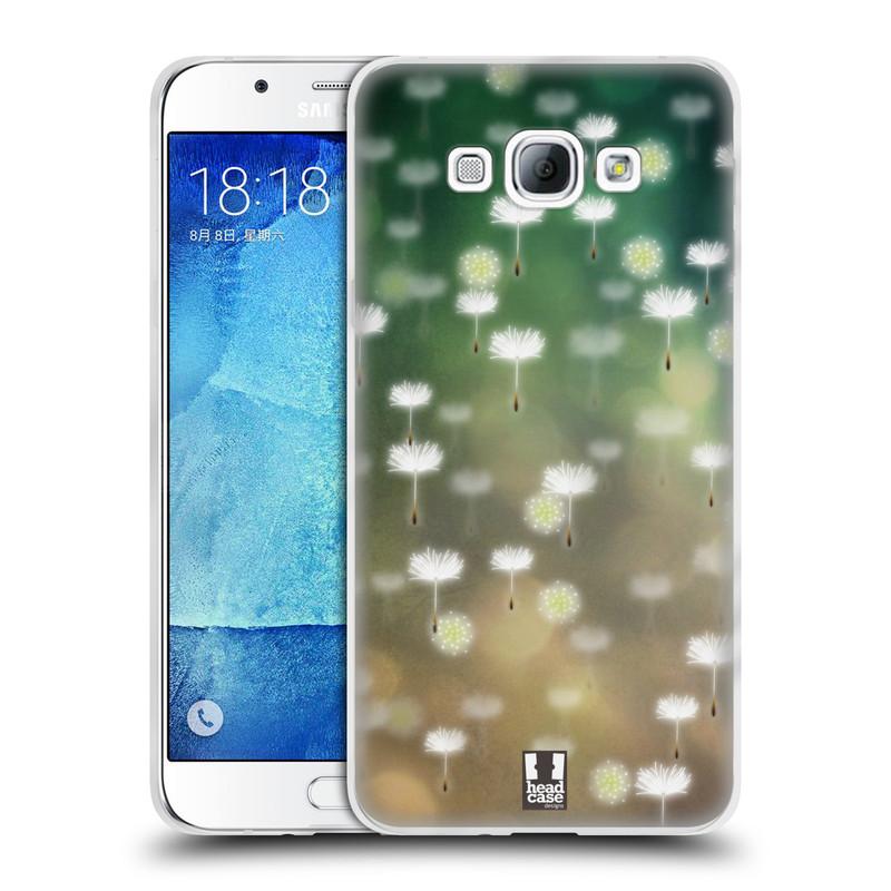 Silikonové pouzdro na mobil Samsung Galaxy A8 HEAD CASE Pampeliškové padáčky (Silikonový kryt či obal na mobilní telefon Samsung Galaxy A8 SM-A800)