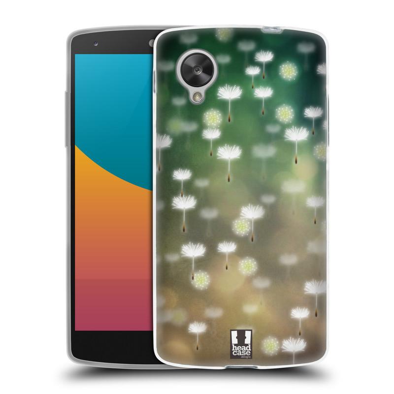 Silikonové pouzdro na mobil LG Nexus 5 HEAD CASE Pampeliškové padáčky (Silikonový kryt či obal na mobilní telefon LG Google Nexus 5 D821)