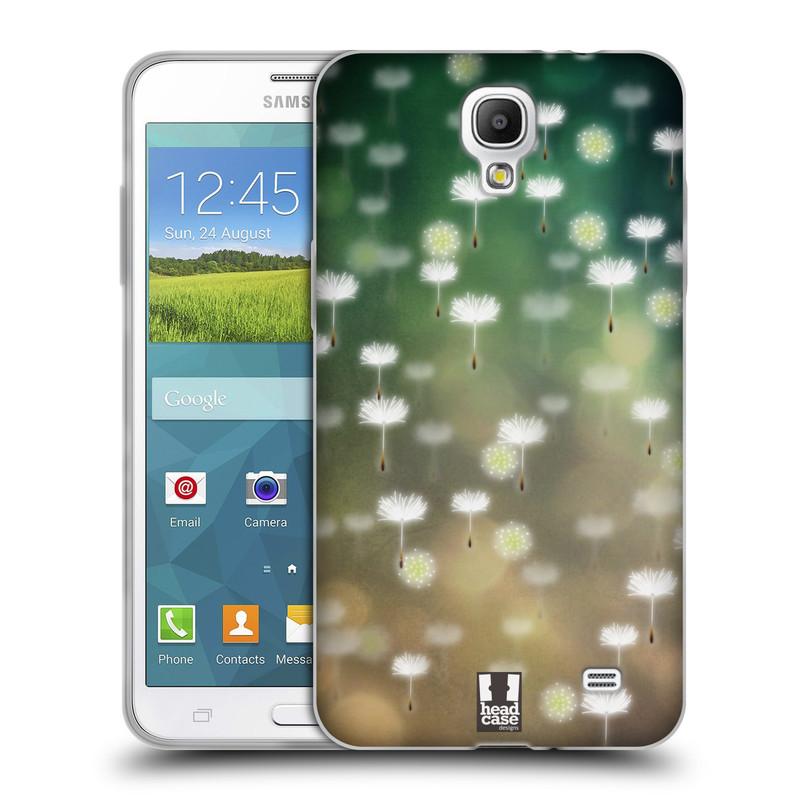 Silikonové pouzdro na mobil Samsung Galaxy Grand Mega 2 HEAD CASE Pampeliškové padáčky (Silikonový kryt či obal na mobilní telefon Samsung Galaxy Grand Mega 2 SM-G750)