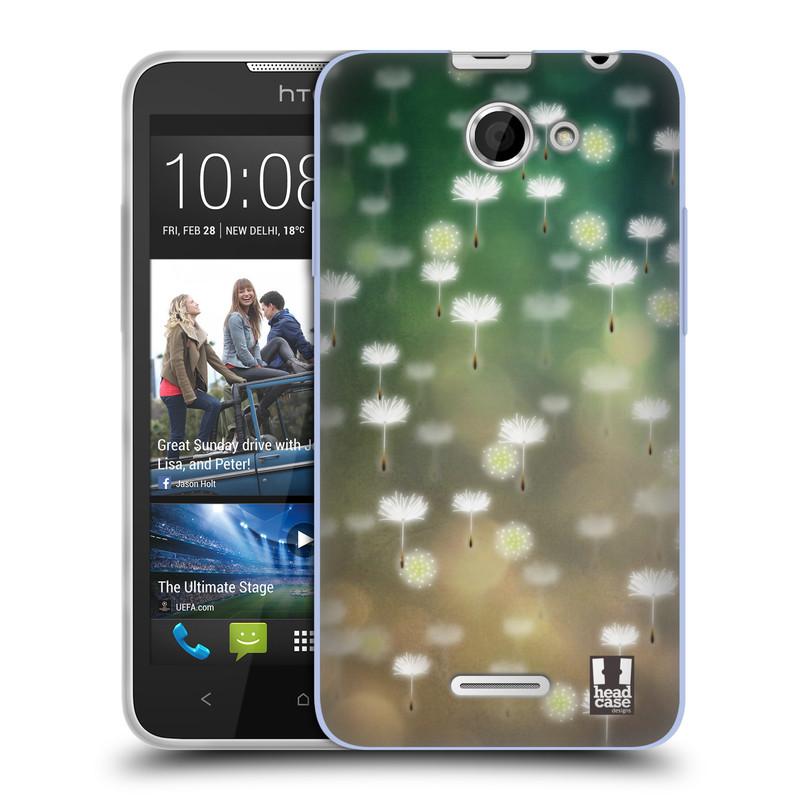 Silikonové pouzdro na mobil HTC Desire 516 HEAD CASE Pampeliškové padáčky (Silikonový kryt či obal na mobilní telefon HTC Desire 516 Dual SIM)