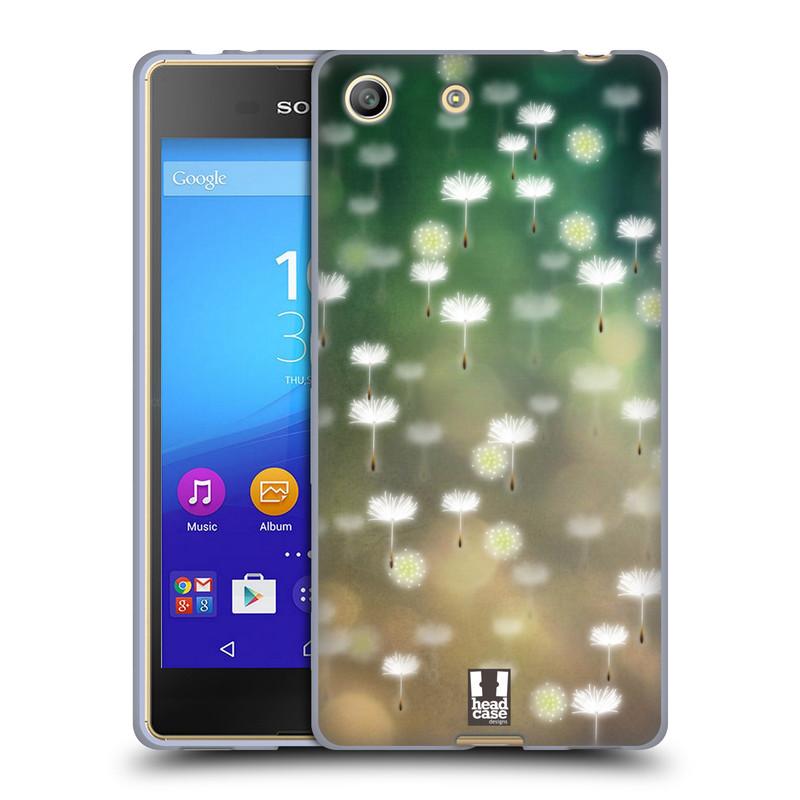 Silikonové pouzdro na mobil Sony Xperia M5 HEAD CASE Pampeliškové padáčky (Silikonový kryt či obal na mobilní telefon Sony Xperia M5 Dual SIM / Aqua)