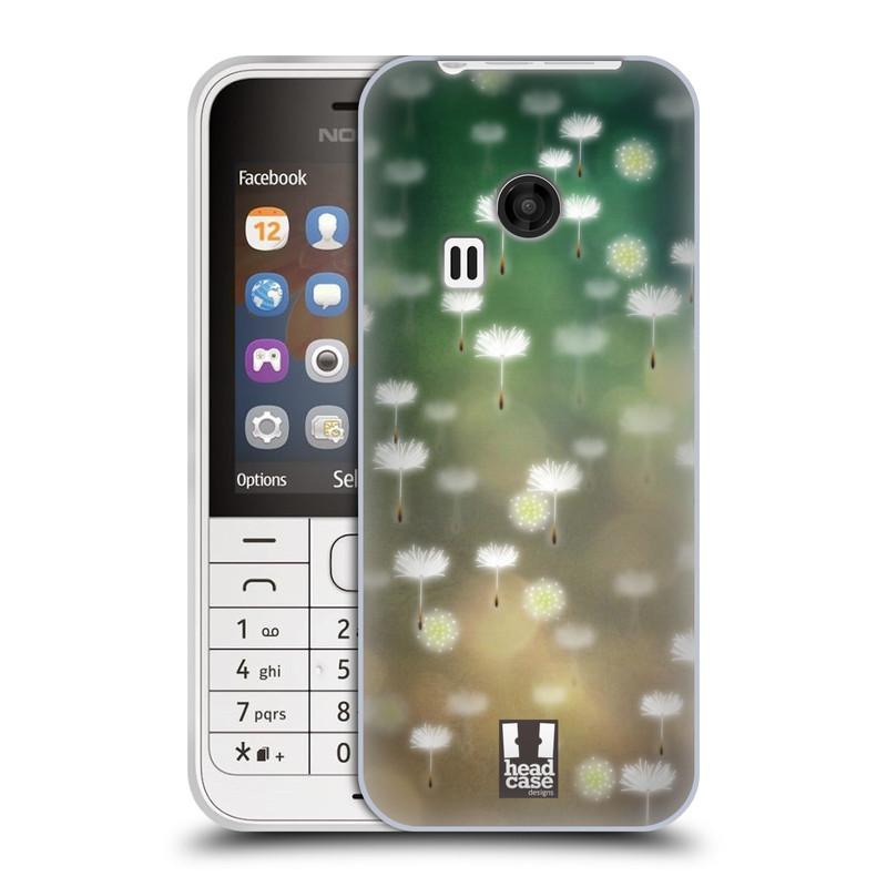 Silikonové pouzdro na mobil Nokia 220 HEAD CASE Pampeliškové padáčky (Silikonový kryt či obal na mobilní telefon Nokia 220 a 220 Dual SIM)