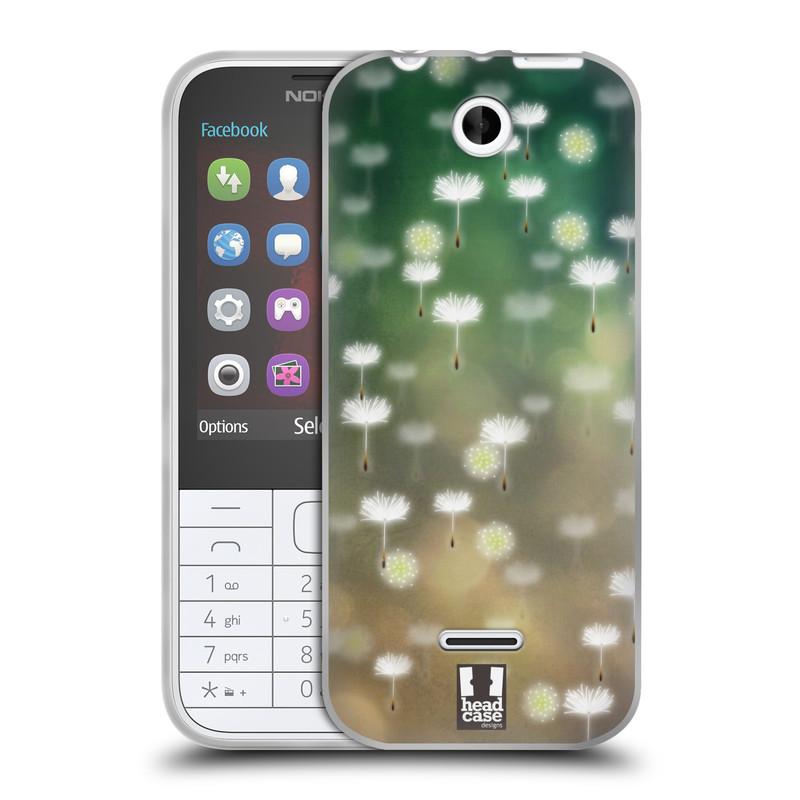 Silikonové pouzdro na mobil Nokia 225 HEAD CASE Pampeliškové padáčky (Silikonový kryt či obal na mobilní telefon Nokia 225)