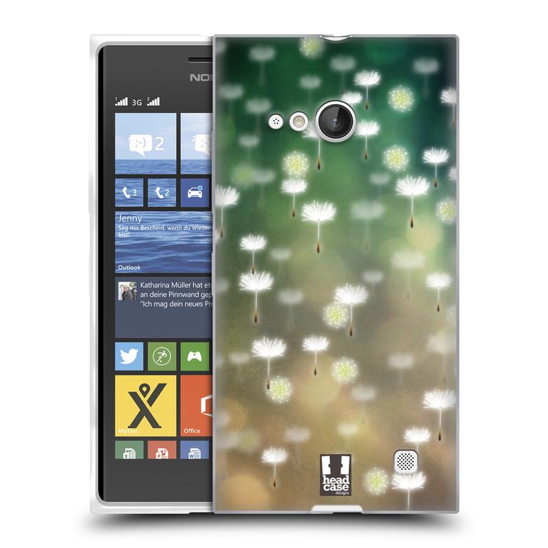 Silikonové pouzdro na mobil Nokia Lumia 730 Dual SIM HEAD CASE Pampeliškové padáčky (Silikonový kryt či obal na mobilní telefon Nokia Lumia 730 Dual SIM)