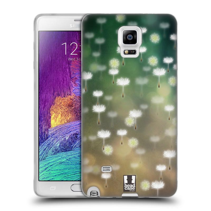 Silikonové pouzdro na mobil Samsung Galaxy Note 4 HEAD CASE Pampeliškové padáčky (Silikonový kryt či obal na mobilní telefon Samsung Galaxy Note 4 SM-N910F)