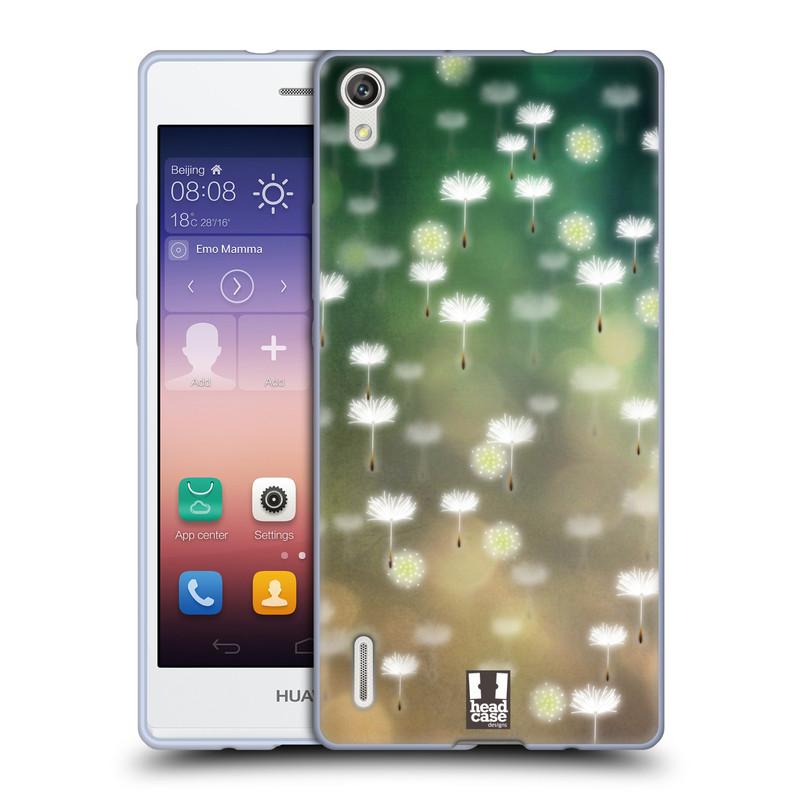 Silikonové pouzdro na mobil Huawei P7 HEAD CASE Pampeliškové padáčky (Silikonový kryt či obal na mobilní telefon Huawei Ascend P7)