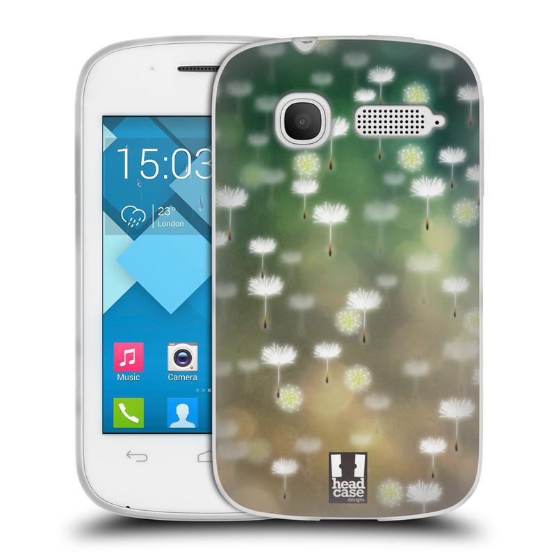 Silikonové pouzdro na mobil Alcatel One Touch Pop C1 HEAD CASE Pampeliškové padáčky (Silikonový kryt či obal na mobilní telefon Alcatel OT-4015D POP C1)