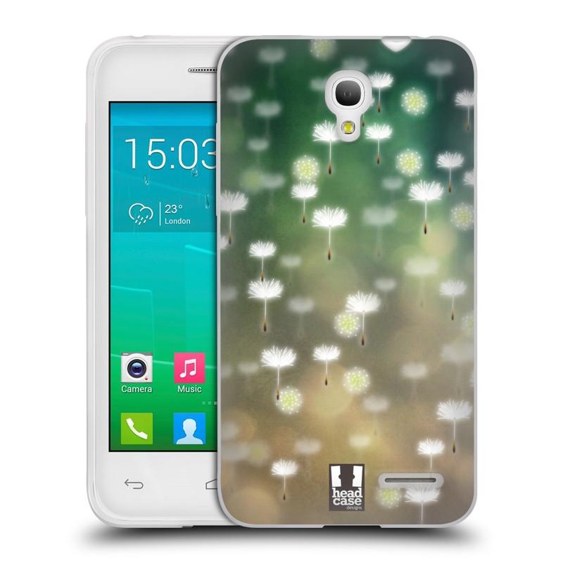 Silikonové pouzdro na mobil Alcatel One Touch Pop S3 HEAD CASE Pampeliškové padáčky (Silikonový kryt či obal na mobilní telefon Alcatel OT- 5050Y POP S3)