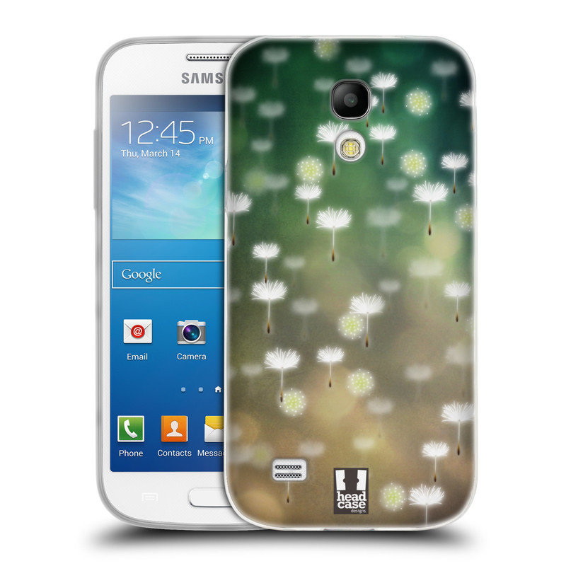Silikonové pouzdro na mobil Samsung Galaxy S4 Mini HEAD CASE Pampeliškové padáčky (Silikonový kryt či obal na mobilní telefon Samsung Galaxy S4 Mini GT-i9195 / i9190)