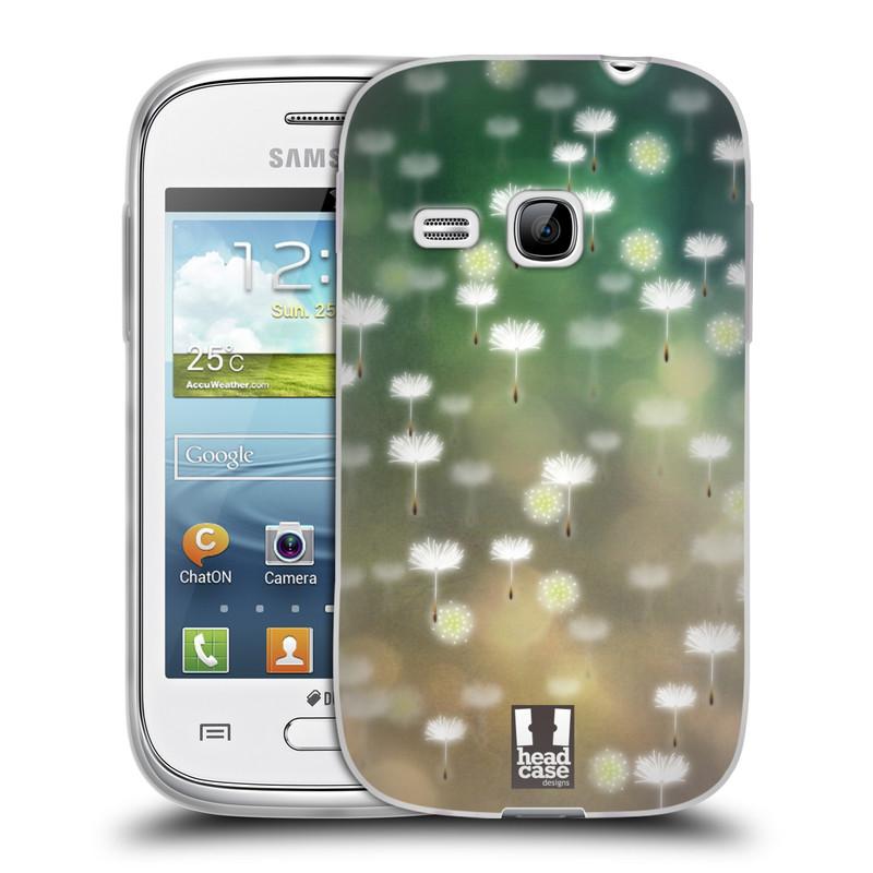 Silikonové pouzdro na mobil Samsung Galaxy Young HEAD CASE Pampeliškové padáčky (Silikonový kryt či obal na mobilní telefon Samsung Galaxy Young GT-S6310)
