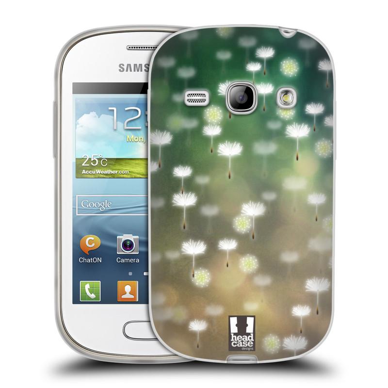 Silikonové pouzdro na mobil Samsung Galaxy Fame HEAD CASE Pampeliškové padáčky (Silikonový kryt či obal na mobilní telefon Samsung Galaxy Fame GT-S6810)