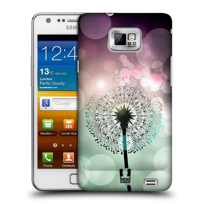 Plastové pouzdro na mobil Samsung Galaxy S II HEAD CASE Pampeliškové odlesky (Kryt či obal na mobilní telefon Samsung Galaxy S II GT-i9100)
