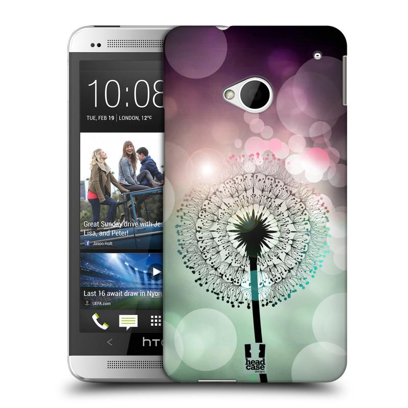 Plastové pouzdro na mobil HTC ONE M7 HEAD CASE Pampeliškové odlesky (Kryt či obal na mobilní telefon HTC ONE M7)
