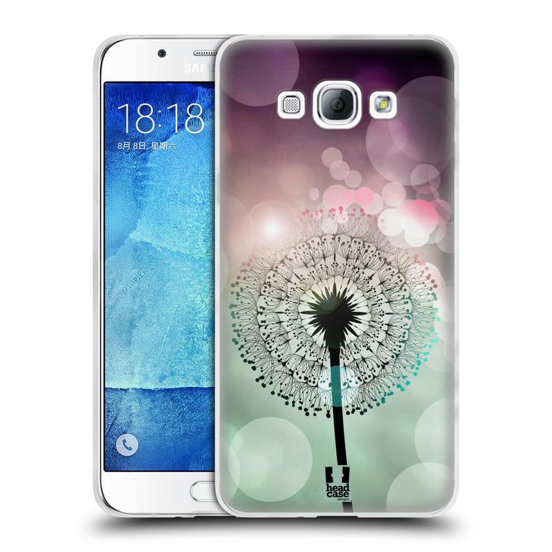 Silikonové pouzdro na mobil Samsung Galaxy A8 HEAD CASE Pampeliškové odlesky (Silikonový kryt či obal na mobilní telefon Samsung Galaxy A8 SM-A800)