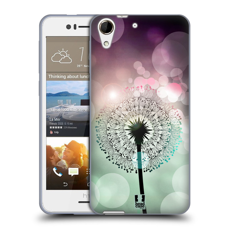 Silikonové pouzdro na mobil HTC Desire 728G Dual SIM HEAD CASE Pampeliškové odlesky (Silikonový kryt či obal na mobilní telefon HTC Desire 728 G Dual SIM)