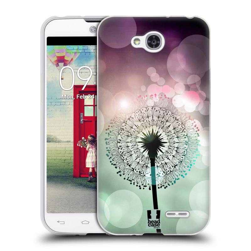 Silikonové pouzdro na mobil LG L90 HEAD CASE Pampeliškové odlesky (Silikonový kryt či obal na mobilní telefon LG L90 D405n)