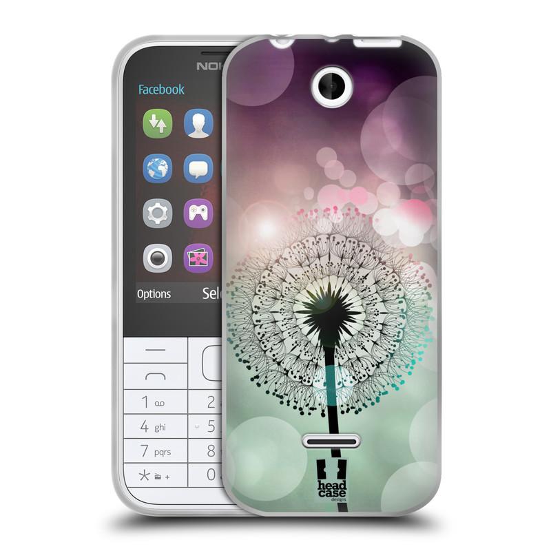 Silikonové pouzdro na mobil Nokia 225 HEAD CASE Pampeliškové odlesky (Silikonový kryt či obal na mobilní telefon Nokia 225)