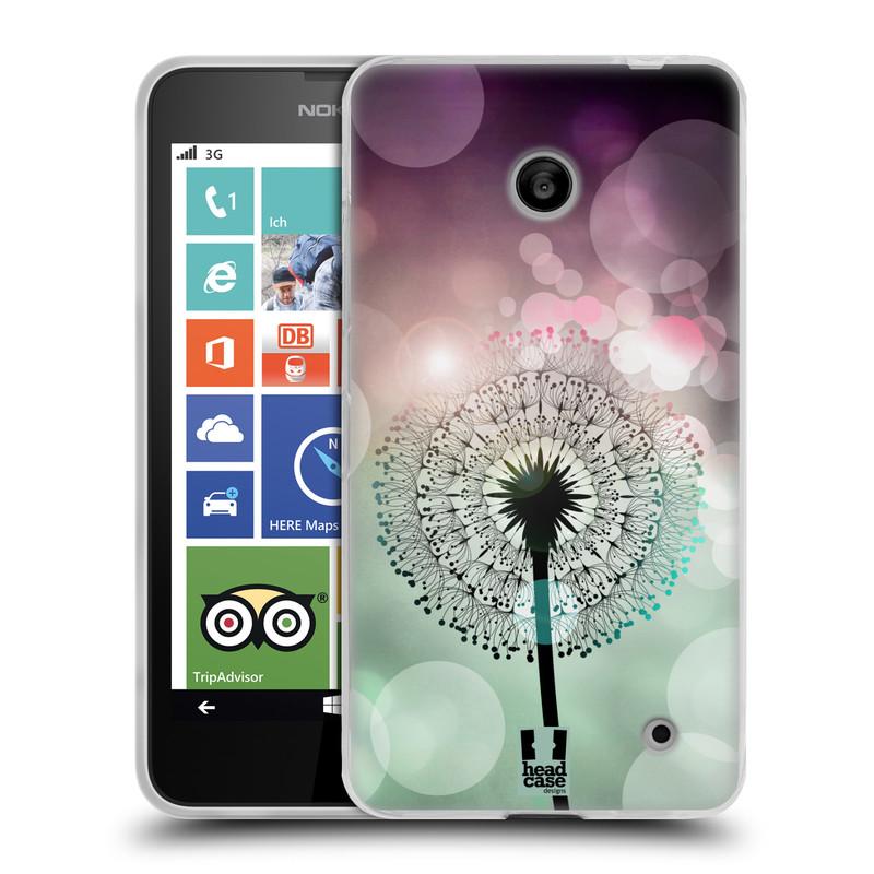 Silikonové pouzdro na mobil Nokia Lumia 630 HEAD CASE Pampeliškové odlesky (Silikonový kryt či obal na mobilní telefon Nokia Lumia 630 a Nokia Lumia 630 Dual SIM)