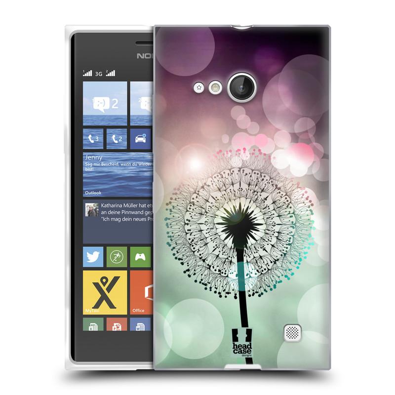 Silikonové pouzdro na mobil Nokia Lumia 730 Dual SIM HEAD CASE Pampeliškové odlesky (Silikonový kryt či obal na mobilní telefon Nokia Lumia 730 Dual SIM)