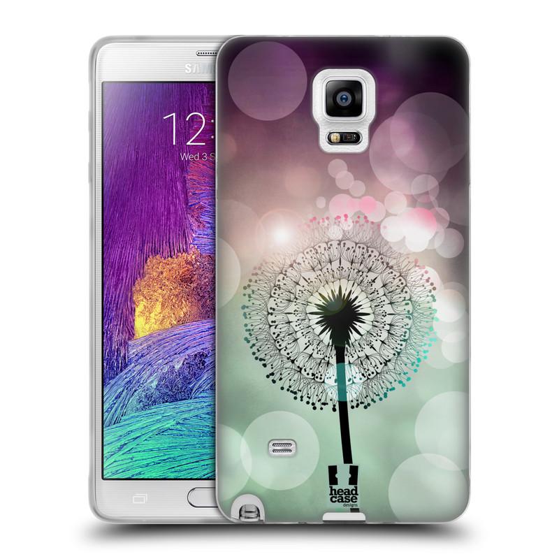 Silikonové pouzdro na mobil Samsung Galaxy Note 4 HEAD CASE Pampeliškové odlesky (Silikonový kryt či obal na mobilní telefon Samsung Galaxy Note 4 SM-N910F)