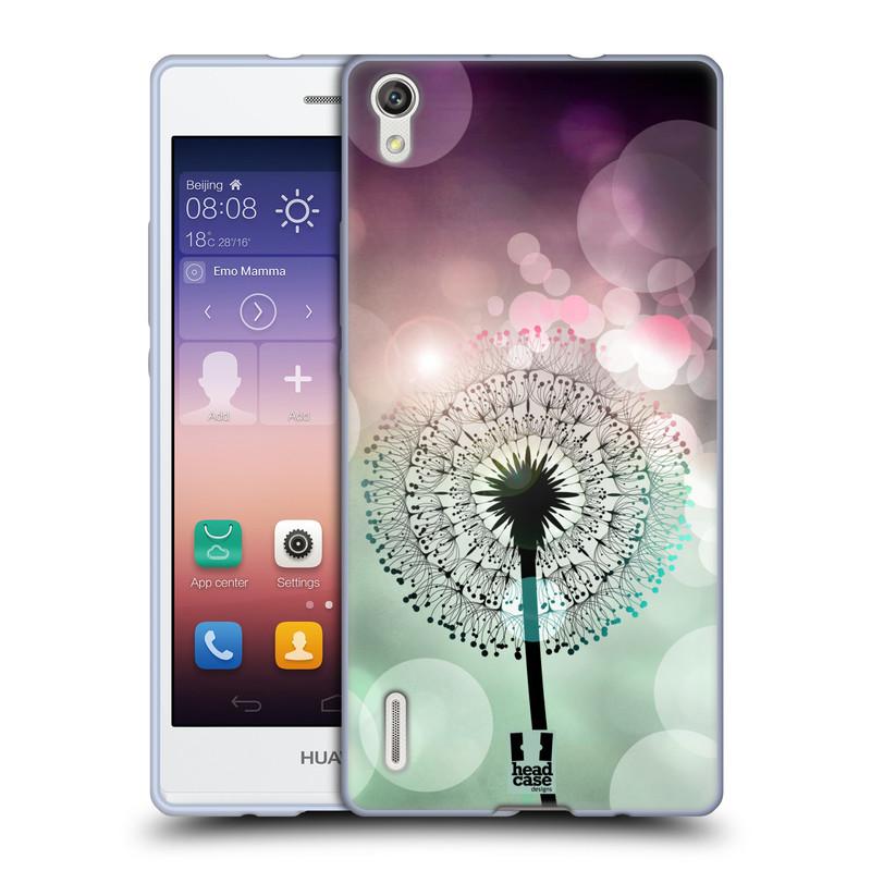 Silikonové pouzdro na mobil Huawei P7 HEAD CASE Pampeliškové odlesky (Silikonový kryt či obal na mobilní telefon Huawei Ascend P7)