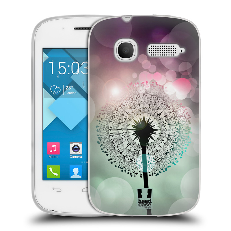 Silikonové pouzdro na mobil Alcatel One Touch Pop C1 HEAD CASE Pampeliškové odlesky (Silikonový kryt či obal na mobilní telefon Alcatel OT-4015D POP C1)