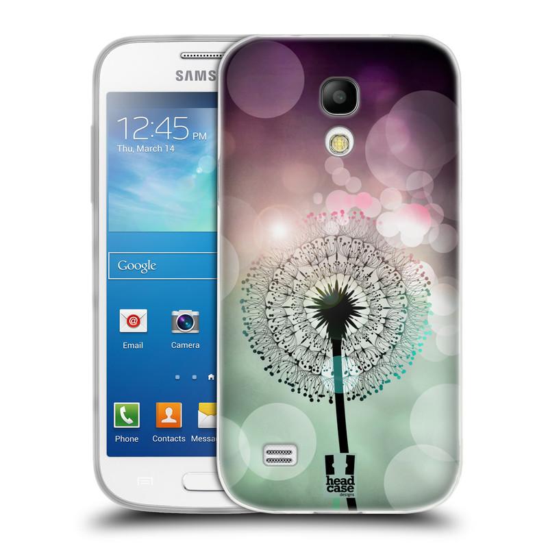 Silikonové pouzdro na mobil Samsung Galaxy S4 Mini HEAD CASE Pampeliškové odlesky (Silikonový kryt či obal na mobilní telefon Samsung Galaxy S4 Mini GT-i9195 / i9190)