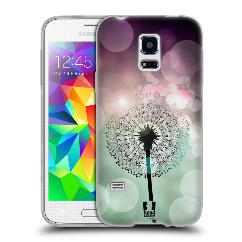 Silikonové pouzdro na mobil Samsung Galaxy S5 Mini HEAD CASE Pampeliškové odlesky (Silikonový kryt či obal na mobilní telefon Samsung Galaxy S5 Mini SM-G800F)